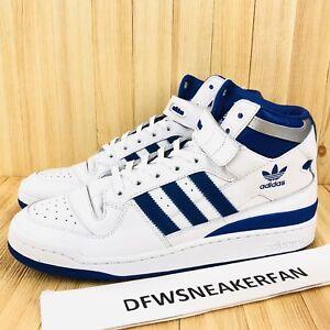 b3098c6107c Adidas Originals Forum Mid Refined Men Size 10 White Royal Blue ...