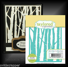 Taylored Expressions dies - BIRCH TREES cutting plate die woods, Nature TE178