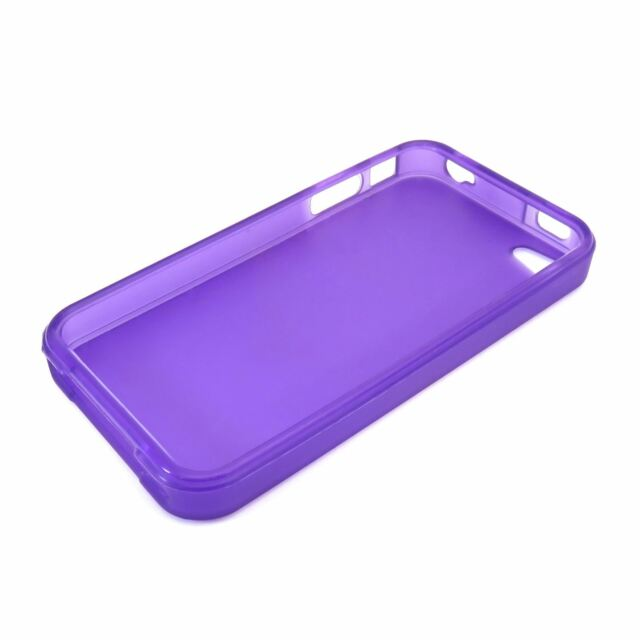 Lila Gel Silikon TPU Schutzhülle Schutz für Apple Iphone 4 4S