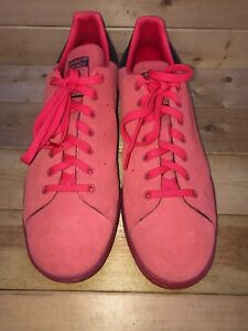 Image is loading Adidas-Stan-Smith-Red-Suede-Tennis-Shoes-Men- 4ca31afe4fed