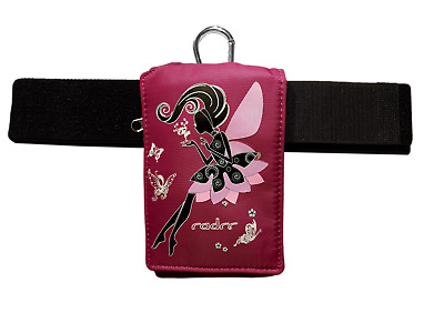 Insulin Pump Case-red-medical ID with carabiner