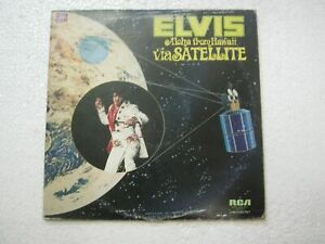 ELVIS PRESLEY ALOHA FROM HAWAII VIA SATELLITE 2DIS RARE LP RECORD KOREA ex