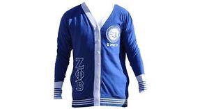 Zeta Phi Beta Sorority Blue Lightweight Long Sleeve Cardigan Sweater