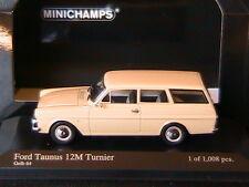 FORD TAUNUS 12M TURNIER 1962 GELB 64 MINICHAMPS 400086111 1/43 CREAM BREAK VITRE