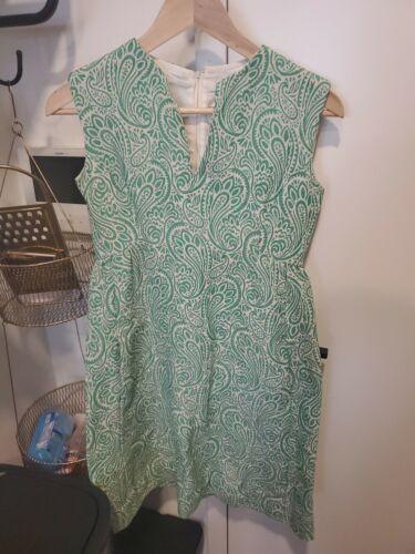 Vintage Teal Traina Green Patterned Dress w/ Pocke