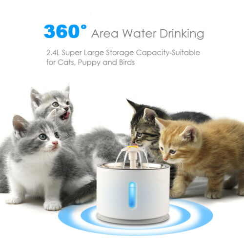 Dog Cat Fountain Stainless Steel Pet Water Dispenser Cat Drinking Water Fountain