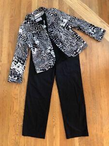 Sz Collana Chico's 1 giacca; Pantaloni da donna Nwot Superiore; Vestito EUC 0 8 AtxqZn