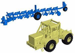 KIROVETS-KIROWETZ-K700A-K701-UdSSR-DDR-Traktor-mit-Pflug-Resin-Modell-Bausatz-HO