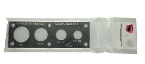Leere-Canadian-Maple-Leaf-Gold-Set-Coin-Holder-inkl-Schrauben-schwarz