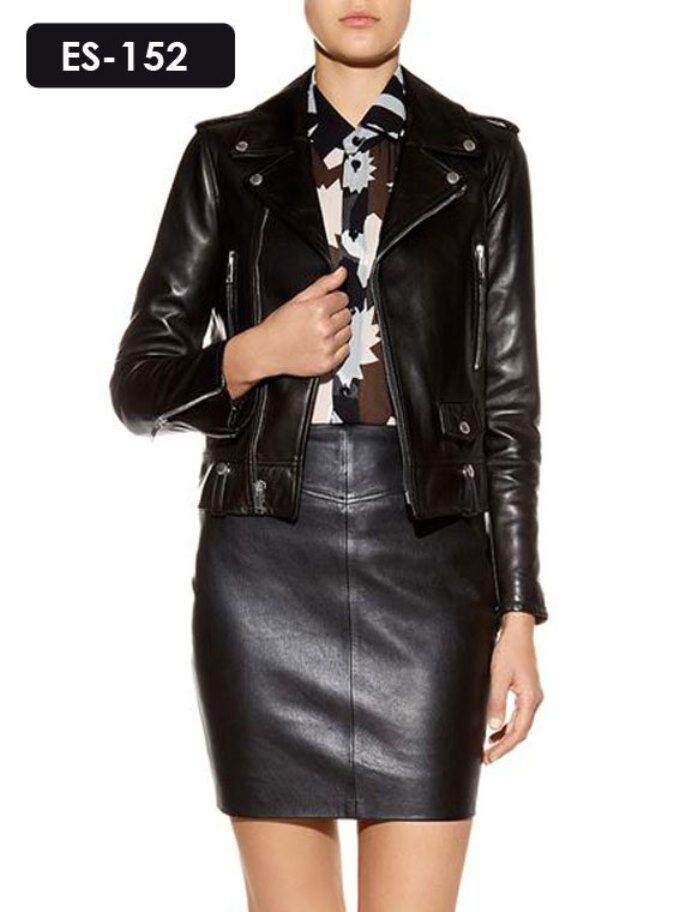 Leather Skirt - Genuine Soft High Waist Leather Mini Skirt