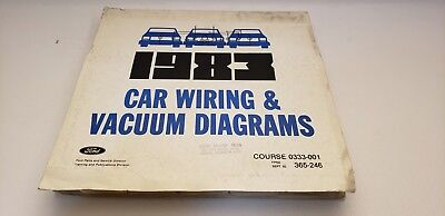 1983 Ford car all electrical wiring vacuum diagram Mustang ...