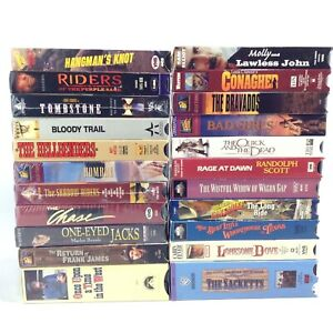 LOT 22 Western VHS Movies TOMBSTONE Once Upon Time In West Shadow Riders Chase