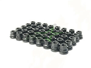 Wheel Accessories Parts Set of 32 Black Factory Style Lug Nuts M14x1.50 Thread Fit Ford F-250 F-350