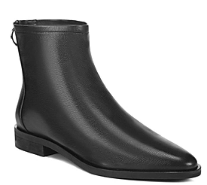 Via Spiga Edie Womens Black Leather Bootie Sz 10 3746