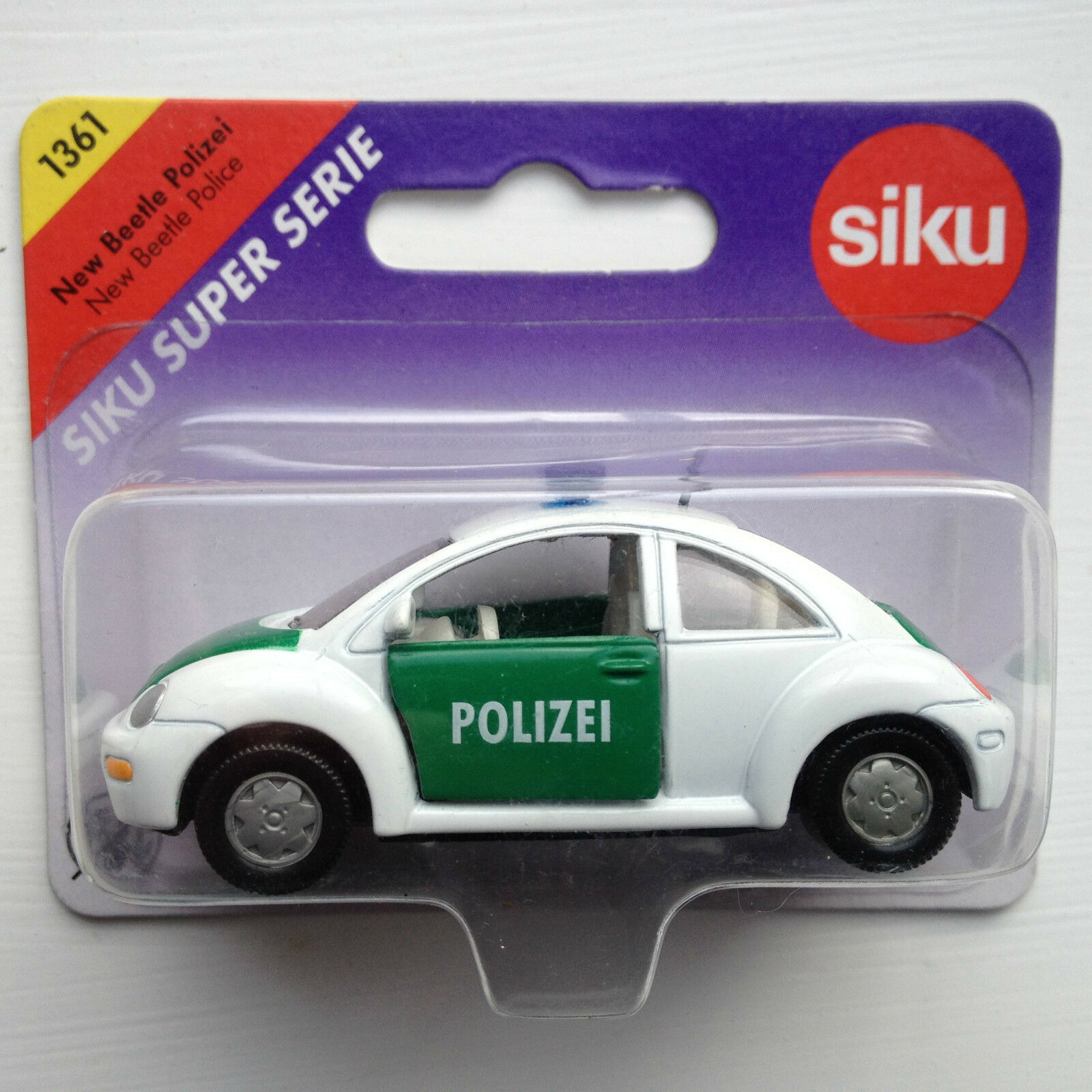 Siku 1361 VW VW VW New Beetle Polizei-Bianco/Verde f36626