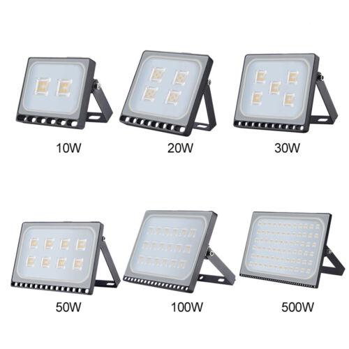 LED Floodlights 10//20//30//50//100W//150//200//300//500W PIR Sensor Outdoor Light Cool