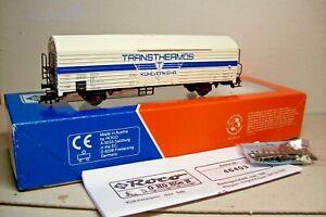 WAGONS-TRAIN-HO-FRIGO-COUVERT-034-TRANSTHERMOS-034-de-ROCO-OCCASION-en-boite