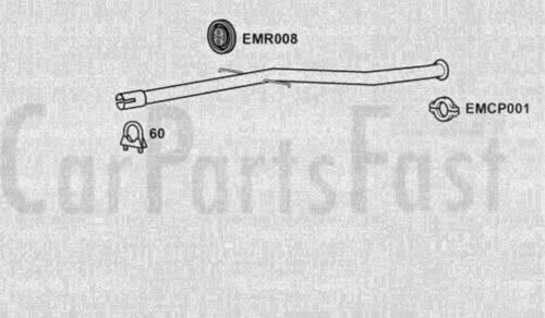EXHAUST REPAIR PIPE Peugeot 406 2.0 Diesel Estate 03/1999 to 07/2004