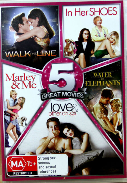 Walk The Line, In Her Shoes, Marley & Me, Water For Elephants, Love & Other Drug