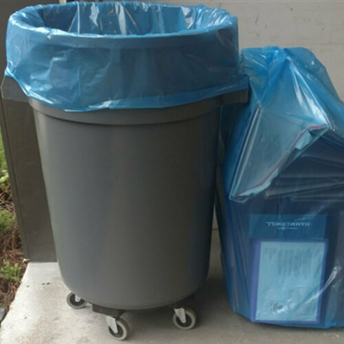 Trash Garbage Blue 25 Bags 45-50 Gallon Ox Plastics Recycling Bags