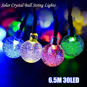 30LED-6-5M-Solar-Crystal-ball-String-Lights-Christmas-Wedding-Party-Light-Decor