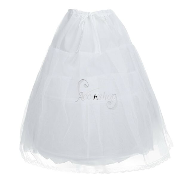 Petticoat Flower Girl 2 Hoops Children Ball Gown Crinoline Underskirt Slip Kids