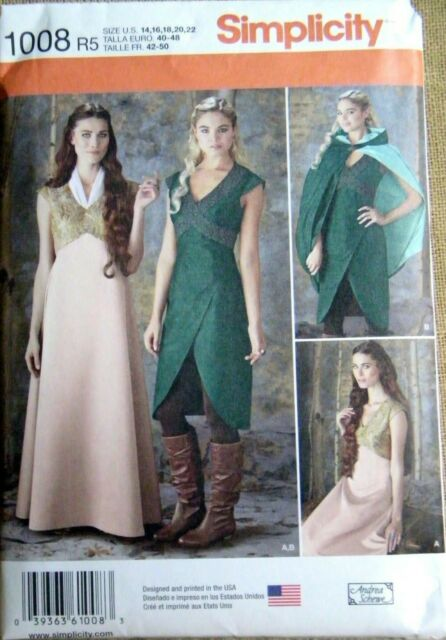 Simplicity 1091 Cosplay Sewing Pattern Poison Ivy Harley Quinn Size 6-14 Uncut