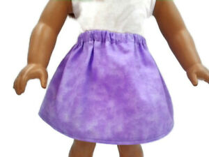 Skirt-fits-American-Girl-dolls-18-034-Doll-Clothes-Variegated-Lavender-color