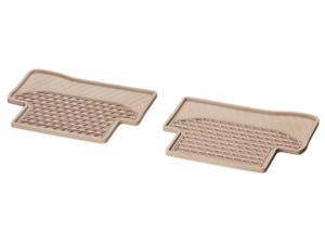Mercedes-Benz Gummimatten Fußmatten beige C-Klasse W S205 hinten A20568076088S85