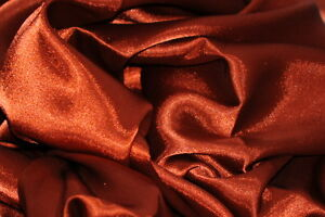 CHARMEUSE-LIGHT-SATIN-POLYESTER-FABRIC-60-SEWING-RUST-SOLID-SILKY-75-YARDS