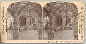 India-Dilwara-Temples-Monte-Abu-Foto-Stereo-Vintage-Citrato