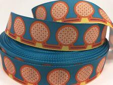 """15 Yards 1/"""" Printed Disney Vintage Look Epcot Park Grosgrain Ribbon...Lisa Sale"""