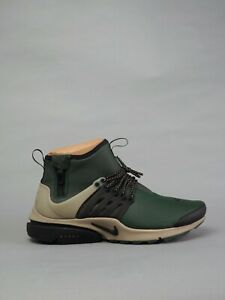 low priced fa560 6c38a Image is loading Nike-Air-Presto-Mid-Utility-Grove-Green-Black-
