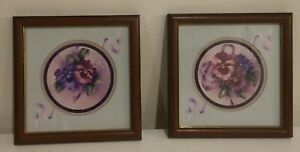 2-VTG-HOMCO-HOME-INTERIORS-FLORAL-PICTURES-10-5-034-X-10-5-034