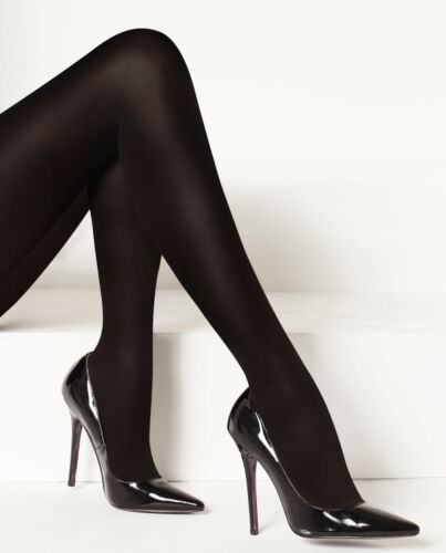 Black Opaque 1 Pair Levante Luxe Legs 100 Denier Cashmere Touch Tights
