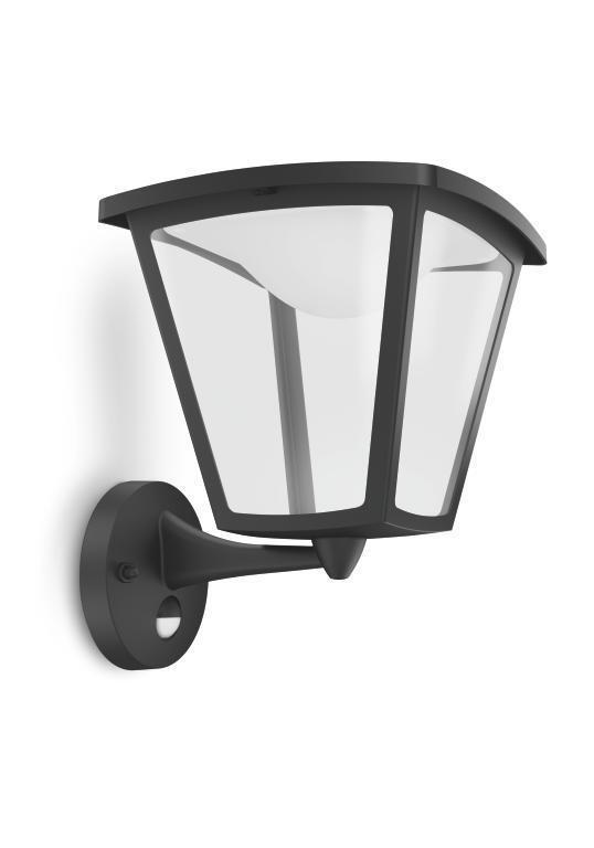 LED Wandaußenleuchte mit BW,aluminium 4,5W schhwarz, Ausstellungsstück