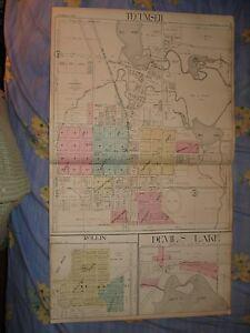 Tecumseh Rollin Devils Lake Lenawee County Michigan Map Ebay