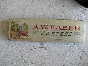 Vintage-1920s-Tin-A-W-Faber-Castell-Tin-Box-Made-in-Germany