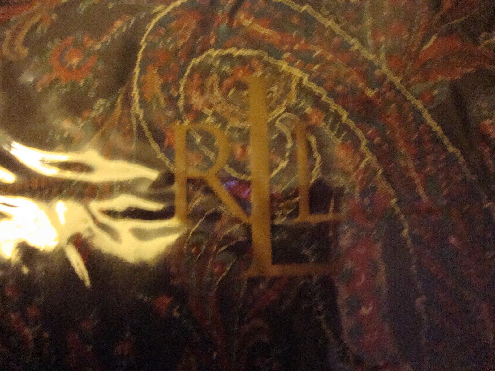 NEW RALPH LAUREN BEDFORD HUNT PAISLEY KING BED SKIRT