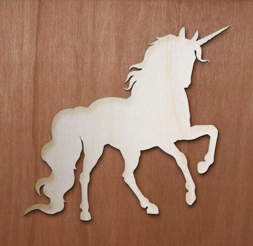 UNICORN Fantasy Fairy Laser cut ply wood shape craft arts decoration ALL SIZES