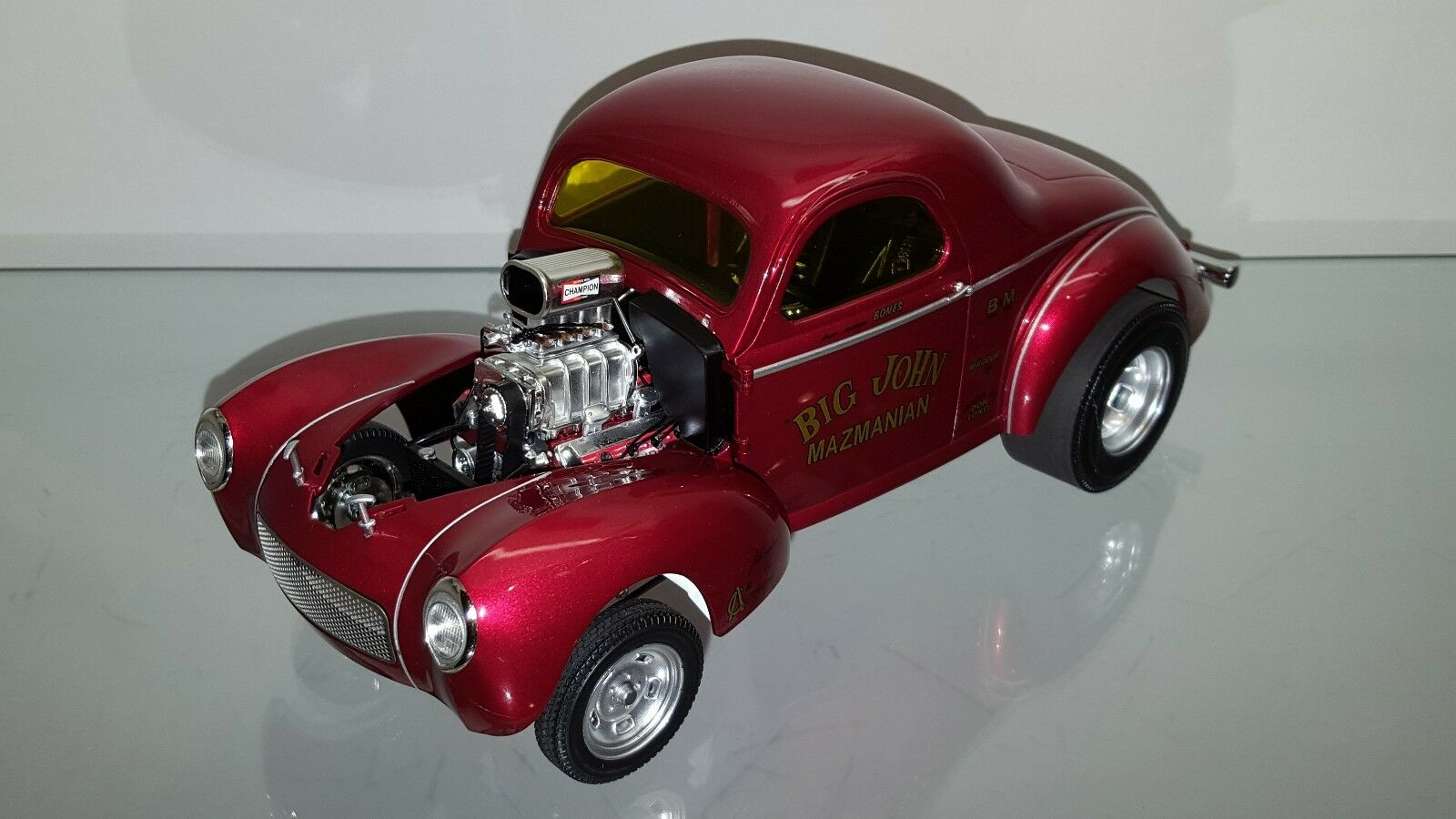 1 18 ACME BIG JOHN MAZMANIAN 1941 WILLYS GASSER RED 1 of 2500 rd-2