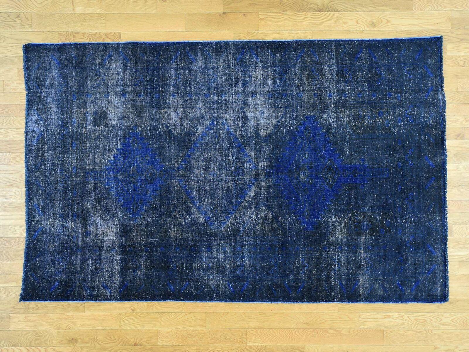 5'10 x9'4  Overdyed Persian Hamadan Worn Down Down Down Handmade Oriental Rug R30461 beaec7