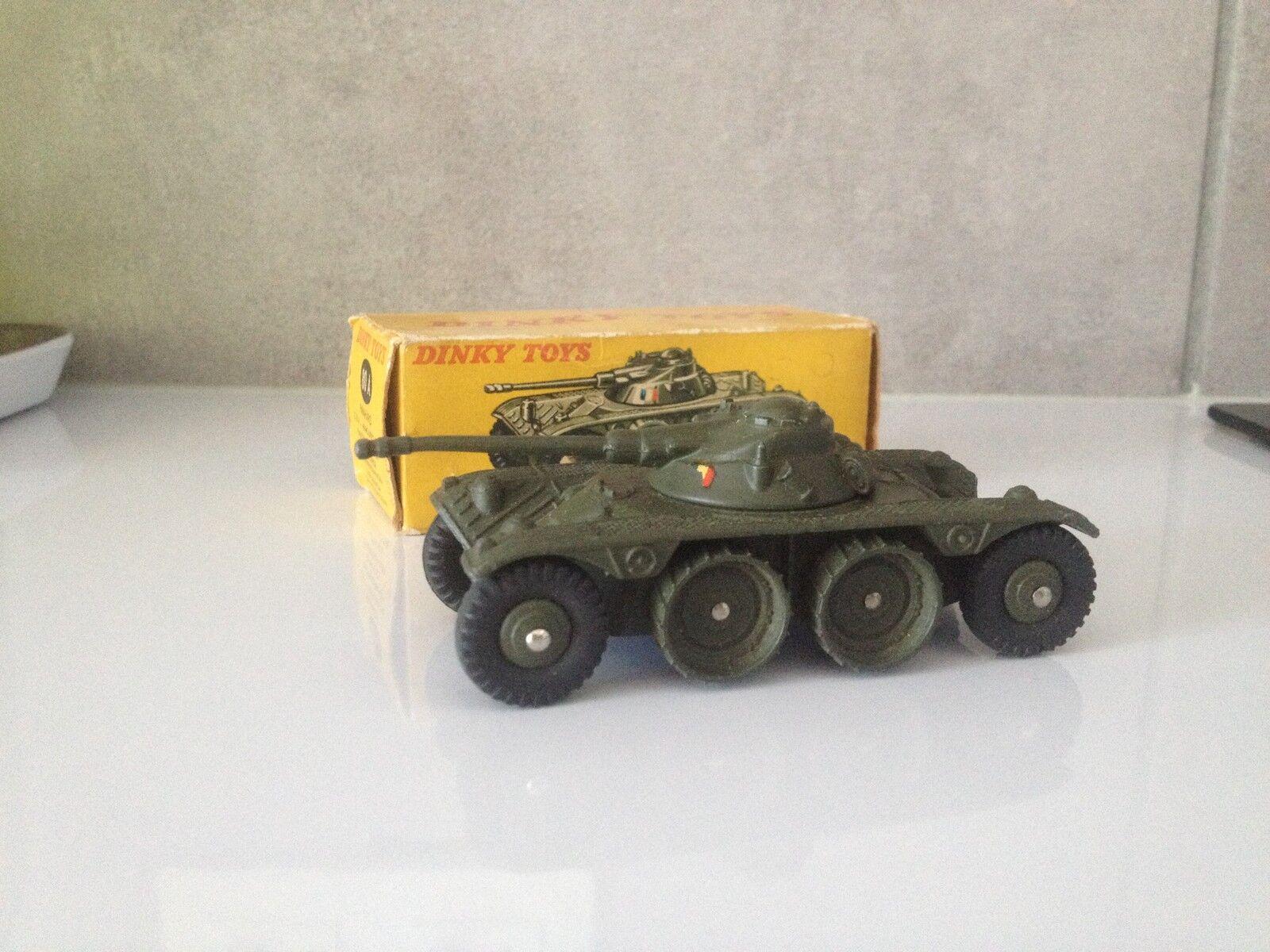 Dinky toys 80a panhard ebr char militaire d origine avec boite
