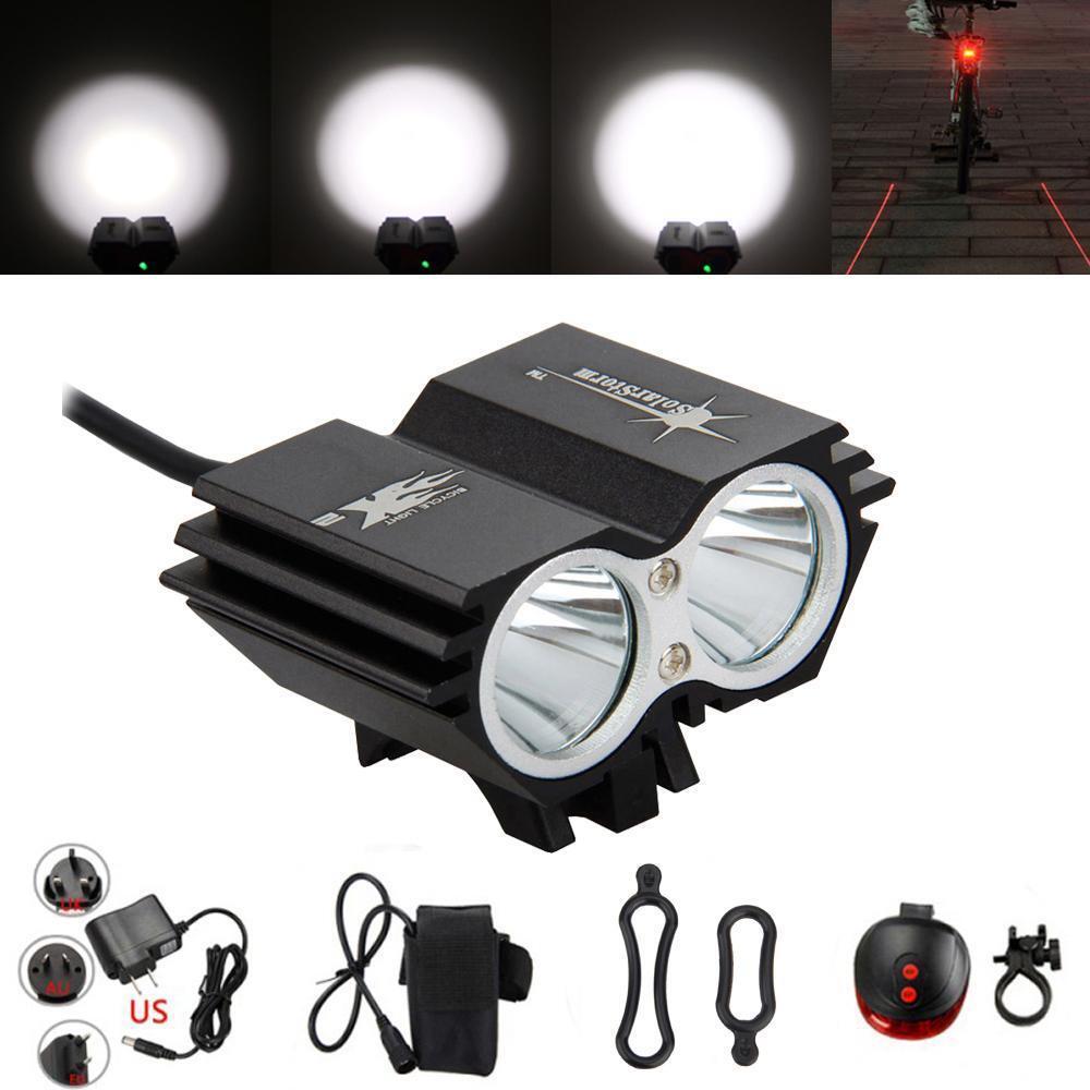 7000 Lumens LED Cycling Light Headlight