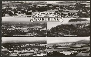 West-Sussex-Worthing-Beauty-Spots-near-Worthing-Multiview-Photo-Postcard