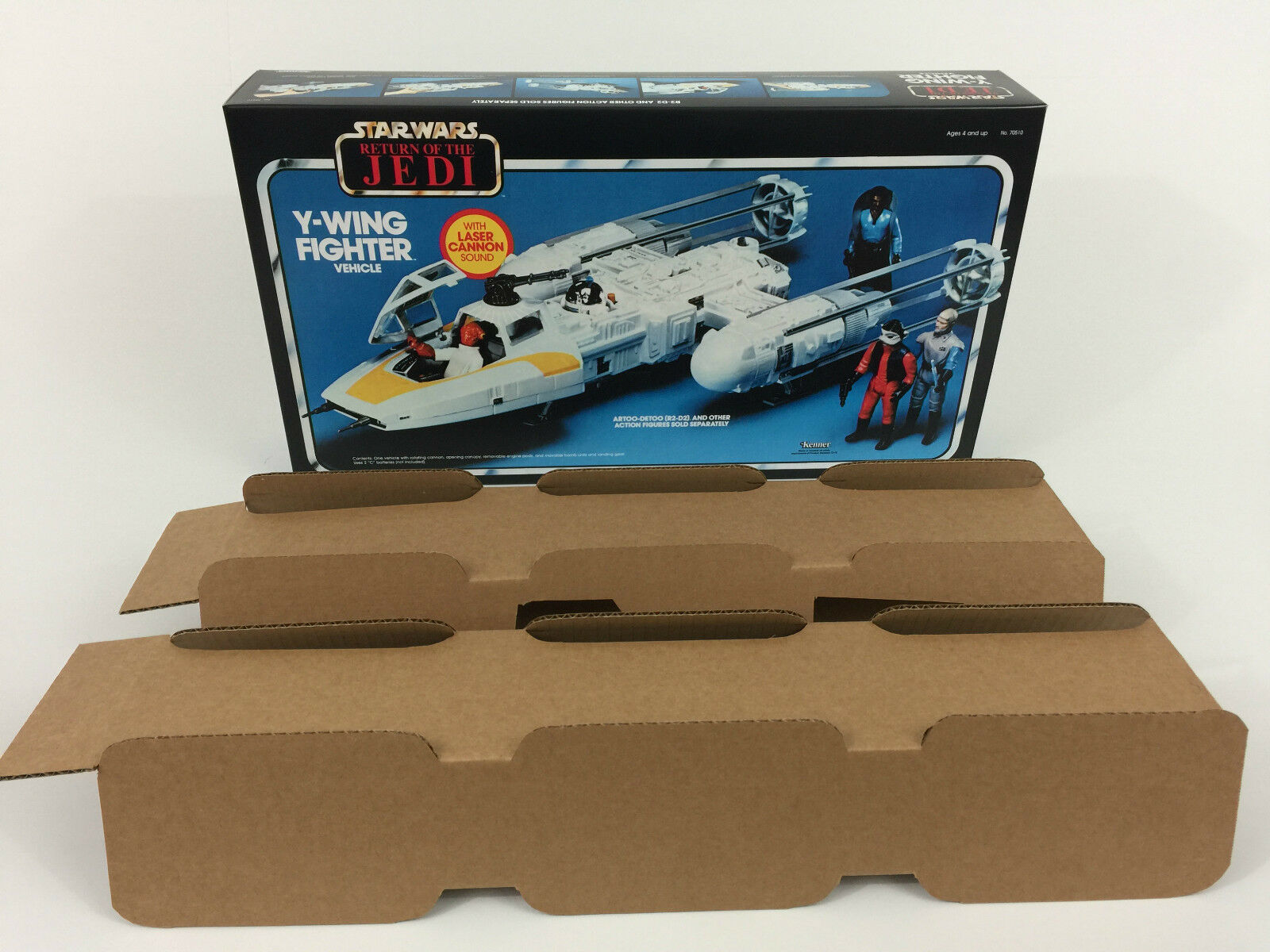 Replacement vintage star wars return of the jedi y-wing y-wing y-wing box + inserts 966b02