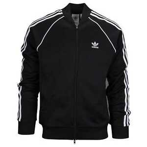 Details about Adidas Superstar Track Top Mens Black White Full Zip Track Jacket CW1256