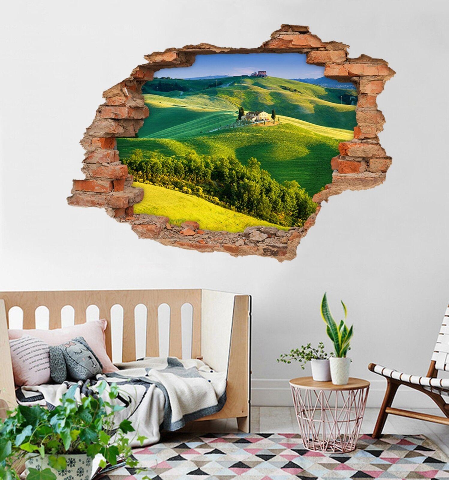 3D Grüne Berge 136 Mauer Murals Mauer Aufklebe Decal Durchbruch AJ WALLPAPER DE
