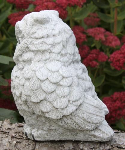 Pierre personnage hibou personnage Dekofigur Jardin Figurine Sculpture Gartendeko Steinguss