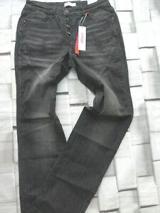 Sheego-Jeans-Trousers-Stretch-Grey-Black-Size-Long-80-to-96-plus-014-762